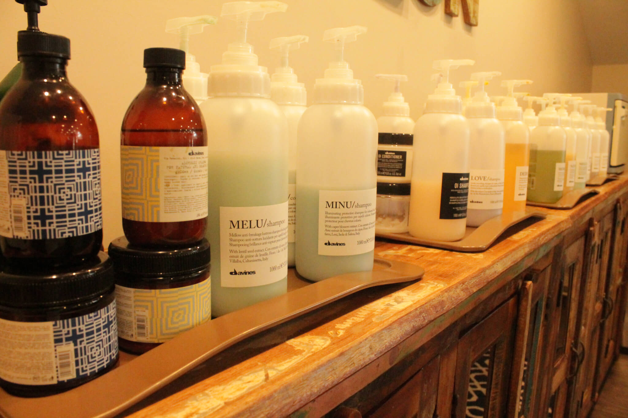 Davines hair care products for salons